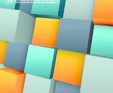彩色方块背景矢量05