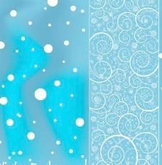 明亮的雪背景的艺术载体02