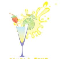 玻璃和果汁高漫画05矢量玻璃载体