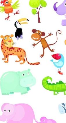 可爱的动物04的设计元素