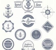 集航海标签矢量05