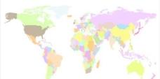 世界地图矢量图形设计集01