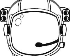 宇航员的头盔剪辑艺术