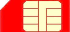 GSM SIM卡的剪贴画