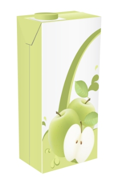 苹果汁饮料包装设计矢量图01