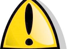 警告标志的橙色圆形剪贴画