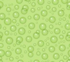 透明水滴绿色背景矢量无缝模式