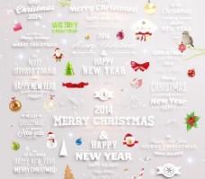 2014新年和圣诞节装饰矢量标签05