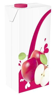 苹果汁饮料包装设计矢量图02