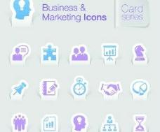 业务和销售图标矢量