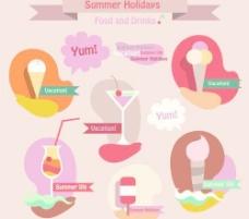 暑假旅行向量02的食物
