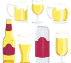 啤酒杯设计平面向量04