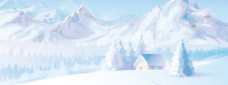 雪山风光矢量