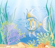 美丽的海底世界04元矢量