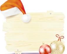 圣诞创意广告牌01向量