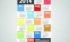 2014新年日历矢量集04