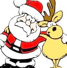 圣诞驯鹿的剪辑艺术
