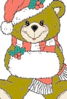 圣诞熊剪贴画