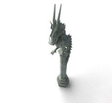 龙头石柱模型