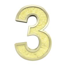 从黄金铸造的字母数字的