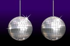 紫色底的金属球