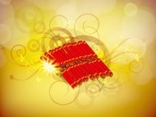 美丽的背景照明鞭炮印度社区的节日排灯节或排灯节在印度