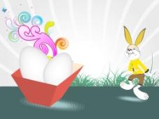 蛋盒花园背景