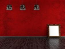 红色背景墙装饰