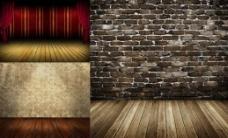 怀旧木板与墙壁高清图片