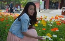 公园美女图片