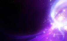 炫光紫色背景图