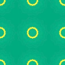 黄色的圆圈的绿色背景