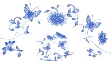 菊园蝶舞图片
