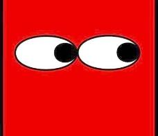 红场的眼睛看着剪贴画