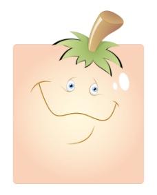 快乐卡通搞笑盒的笑脸
