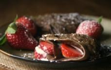 巧克力草莓夹心饼干图片