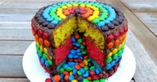 彩色蛋糕图片