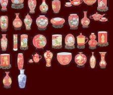 值得一看的漂亮中国红瓷器抠图大集合;高像素 下载