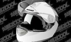 一个栩栩如生的摩托车头盔矢量素材