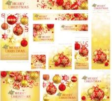 美麗的圣誕節促銷材料01矢量素材