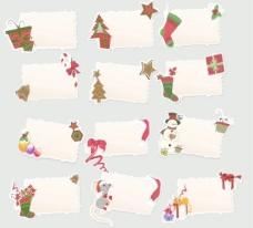 卡通圣誕節元素矢量標簽01