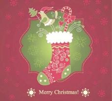 美麗的圣誕卡01矢量