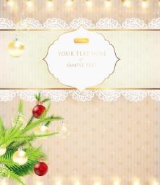 圣誕彩燈背景矢量素材04