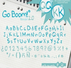 GO BOOM英文字体