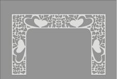 原创窗花拱门两心相悦图片