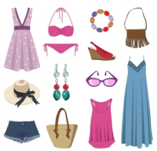 矢量时尚服装服饰图片