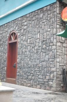 石头墙体建筑摄影图片