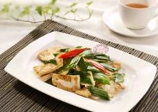 大蒜炒宁海豆腐图片