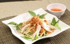 鸡肉涼拌青木瓜丝图片