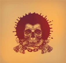 骷髅T恤图案设计图片